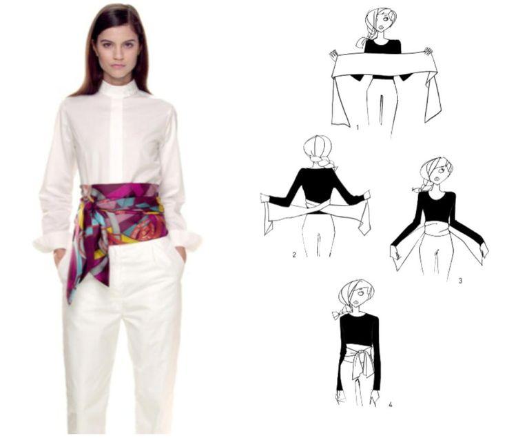 Usa tu foulard de cinturón y presume de estilo. #foulard #estilo #consejos