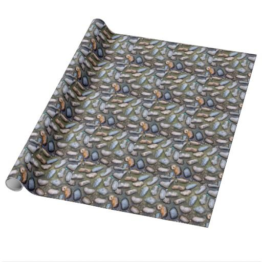 Smooth Stones in ement Wrapping Paper