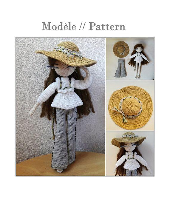 Voici Mariette! Ce doc PDF vous permet de crocheter votre propre poupée…                                                                                                                                                                                 More