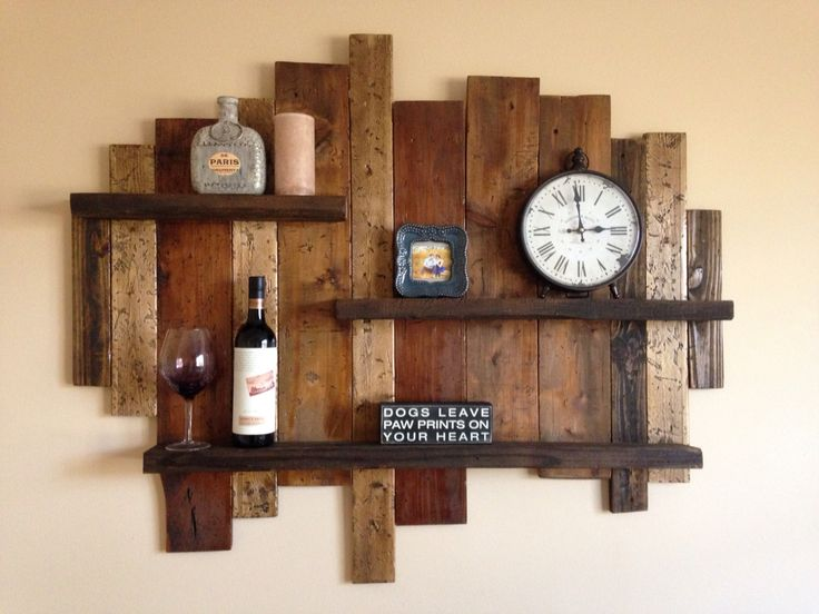 Distressed shelf from old wood