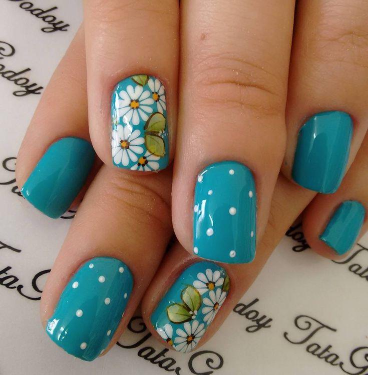 Fotos de Unhas decoradas com margaridas e passo a passo  #DaisyNail #FlowerNails #NailArt #Outros #UnhasArtísticas #UnhascomFlores #UnhascomMargaridas #UnhasDecoradas #UnhasDecoradascomFlores #UnhasDecoradascomMargaridas #UnhasDecoradasPassoaPasso #UnhasDecoradasSimples #UnhasPassoaPasso, Blog,