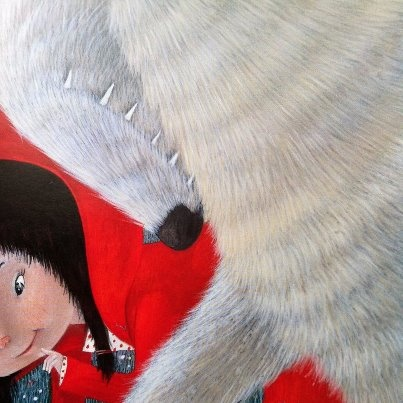 From Little Red Riding Hood, written by Lari Don, illustrated by Célia Chauffrey