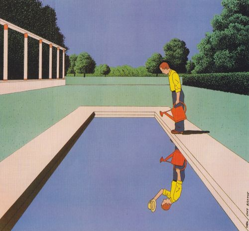 Guy Billout (1984) The Lonely Person's Garden
