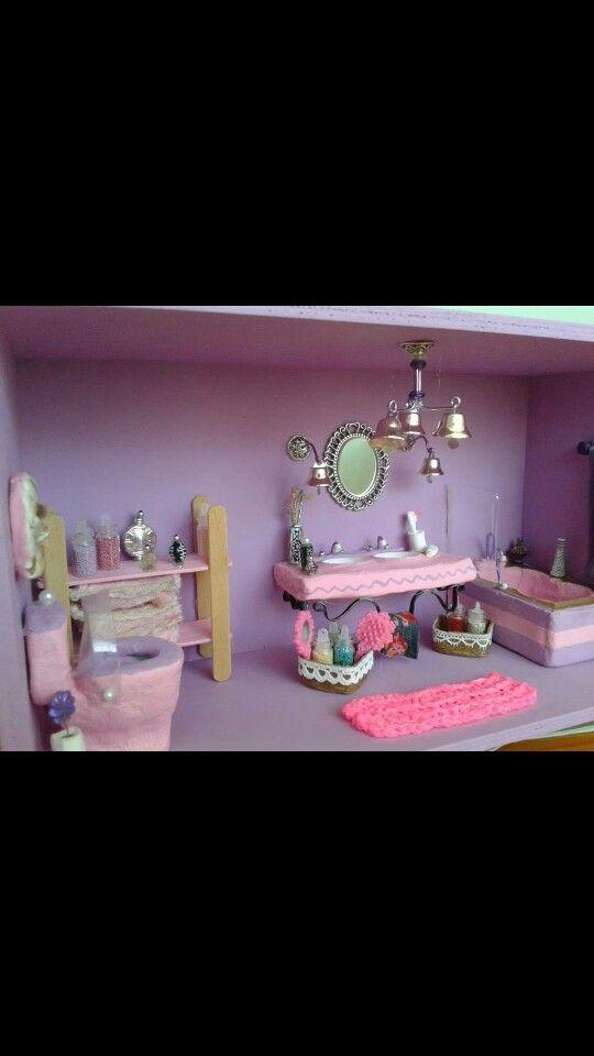 Cuarto de baño en miniaturas