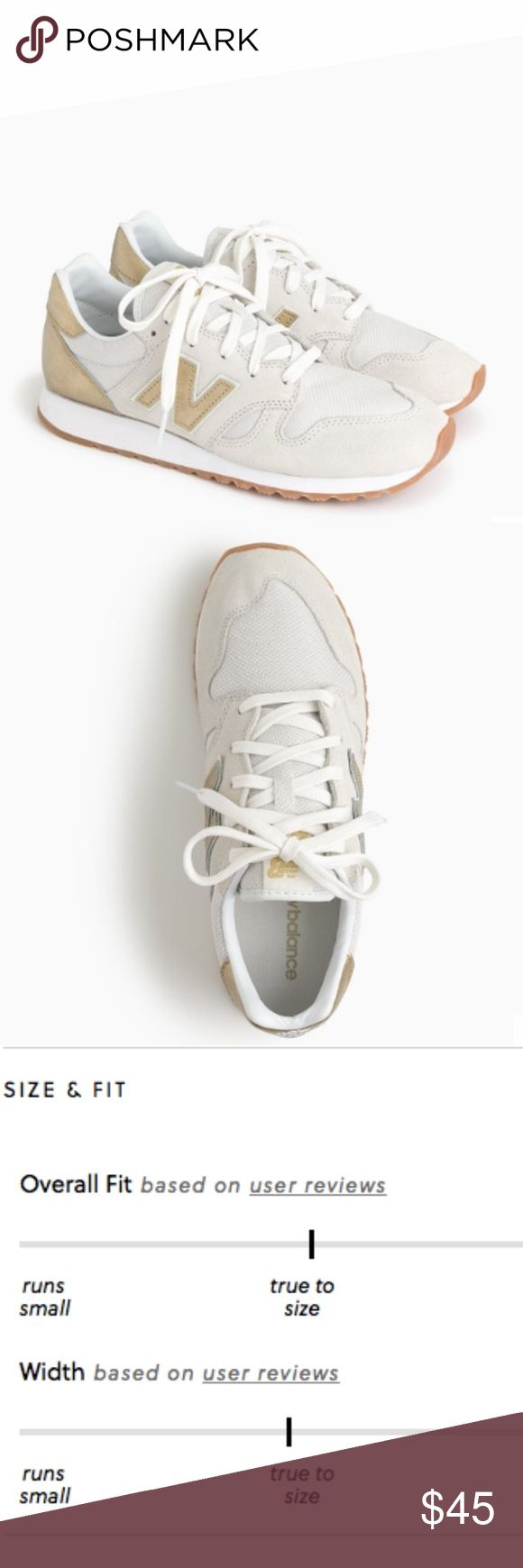J. Crew New Balance 520 sneakers in Gold Salt Women's New Balance® for J.Crew 520 sneakers :: G8302  Color: Gold Salt  Size 9.5   GUC - gently worn   (more photos coming soon!) J. Crew Shoes Sneakers