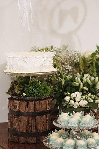 Batismo. Festa. Anjo. Baby. Party. DIY. Baptism. Angel. Cake. Rustic. Decoration - by http://www.bacurifestas.com.br/