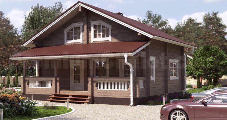 Проект деревянного дома — дом из бруса Кольчугино — КО-167