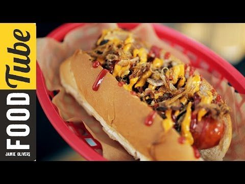 New York Style Hot Dog | Food Busker - YouTube