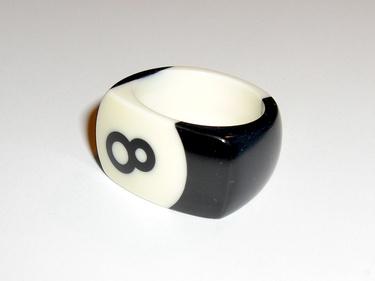 Handmade Eightball Ring!