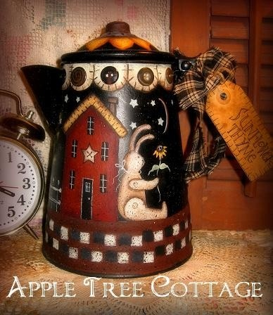 hand painted, vintage coffee pot...beautiful!