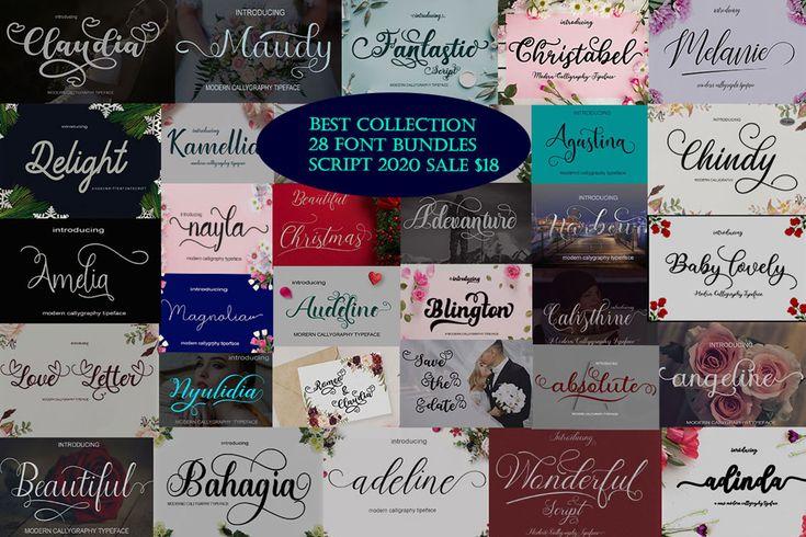 Download Best Collection 28 Font Bundles Script (Bundle) · Creative ...