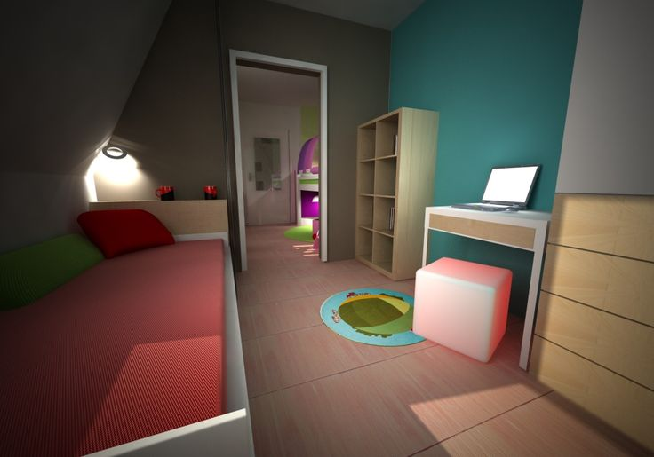 children's room in the attic