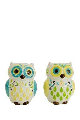 HauteLook | Kitchen Gadgets That'll Make You Smile: Floral Owl Salt & Pepper Shakers Set