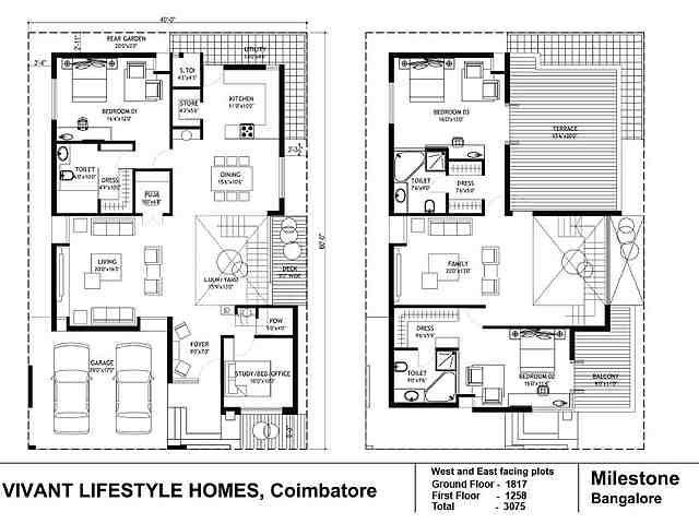 Vivant Lifestyle Homes Builders Vivant Villa Grande Floor Plan Vivant Villa Grande Kalapatti Coimbatore Duplex House Plans Model House Plan West Facing House