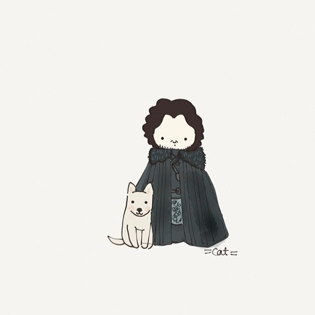 Winter Is Coming If you're a fan of Game of Thrones like we are at FiftyThree, you'll love Cat + Mouse's charming sketches depicting her fav...