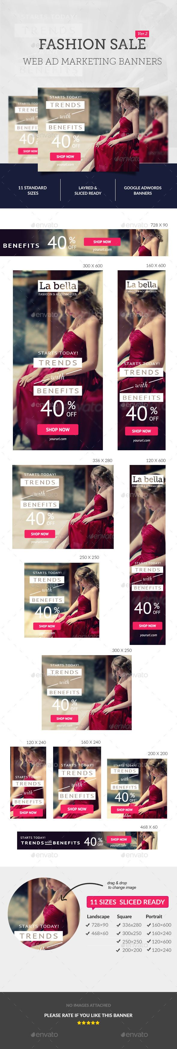 Fashion Sale Ad Banners. A brand new flyer template of its kind, perfect for promoting your services / Product. Each PSD files are easy to edit, layered and fully organized.