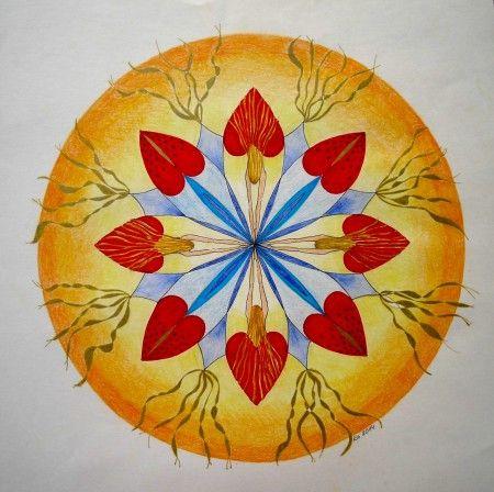 Mandalala No.24, 2014, 40 x 40 cm