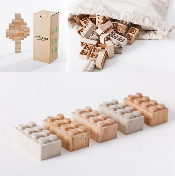 Handmade Wood #LEGO Blocks from iichi #kid #toys