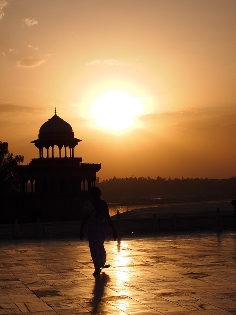 Inde - Agra, au Taj Mahal.