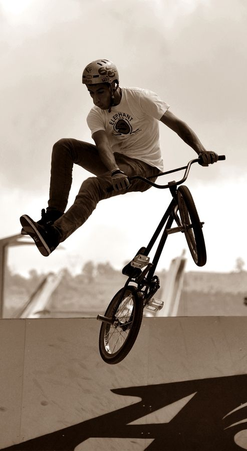 I love bmxing but I just have to get better at it!