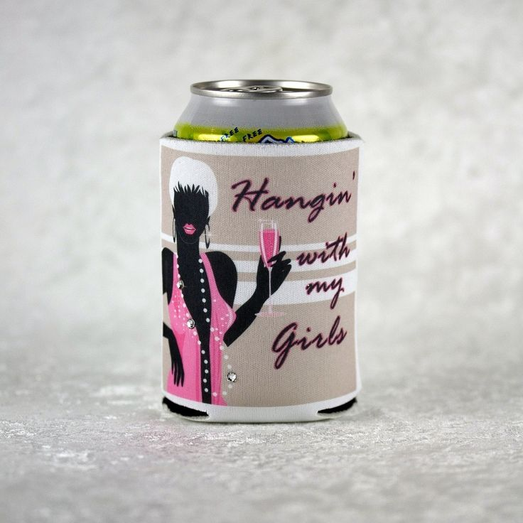 Fun theme on a white foam can koozie for your Girls' Night Out, Bachelorette Party, Birthday Bash or weekend away!  Fashionable lady ready to party has a string of beads that we accented with three genuine Swarovski crystals to add a bit of bling to your night. Collapsible and fits easily into your purse or pocket to tuck away for you to use again and again. www.facebook.com/secondidosllc