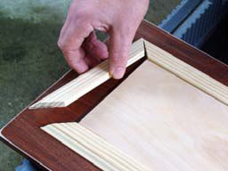 This would be a cool thing to do on cabinet doors to add some color constrast and pring in the trim color