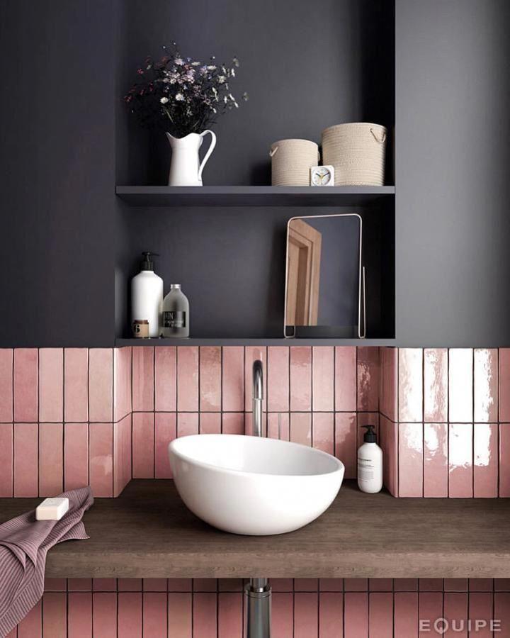 Ich liebe dieses beeindruckende #graybathroom #bee…