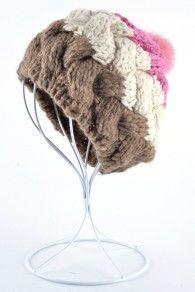 2017 Moda winter woman floppy hat female beret cap hand-knitted rabbit fur ball hats boina feminina toucas de inverno