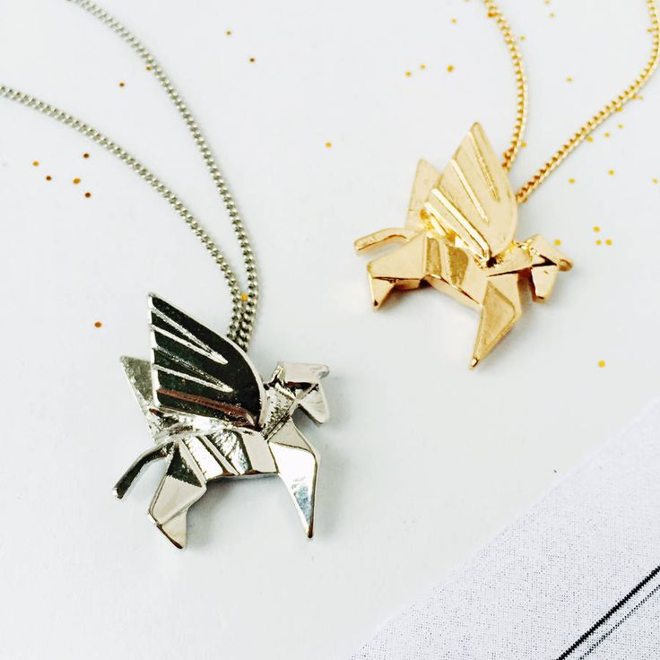 Origami Unicorn Necklace