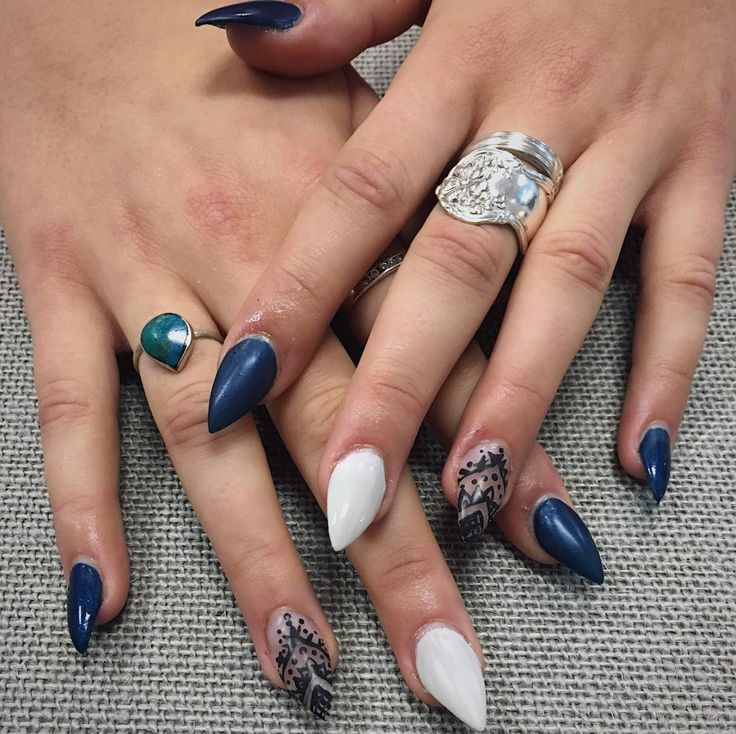 Edgy nail art at Oliver Finley Academy of Cosmetology