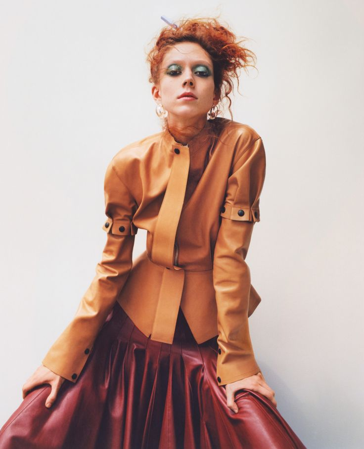 Fashion's Favorite Redhead, Natalie Westling, Models Fall's New Color Palette Photos | W Magazine