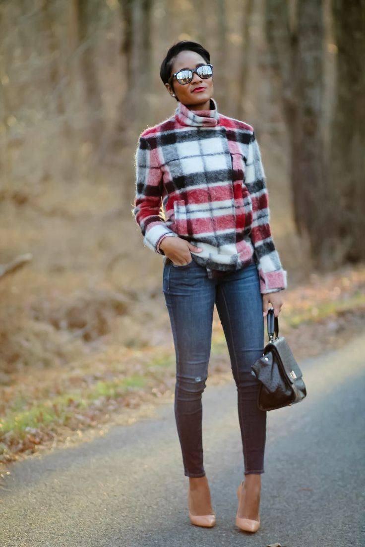 The Daileigh: Tartan~love the whole look but would wear some really cute boots.