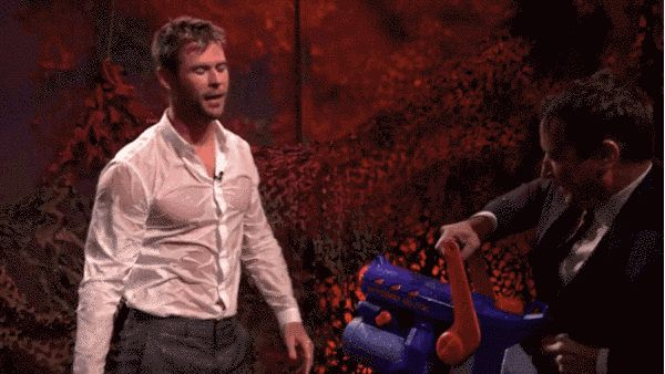 "THIS! | Chris Hemsworth Gets Wet For ""The Tonight Show"""
