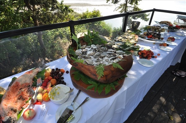 Feast at Sooke Harbour House, on Vancouver Island, BC, Canada. Can't recommend it highly enough!
