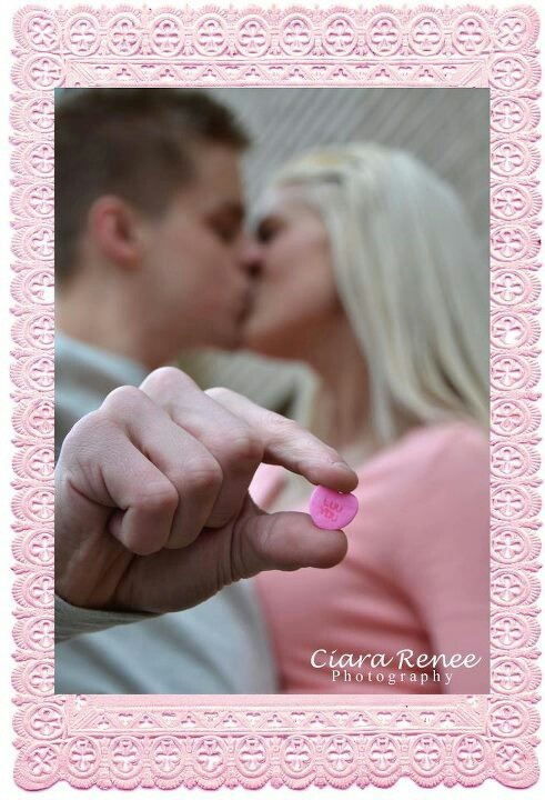 """Valentine's Day Couple photography session.  Candy hearts- """"Luv You"""". By Ciara Renee Photography"""