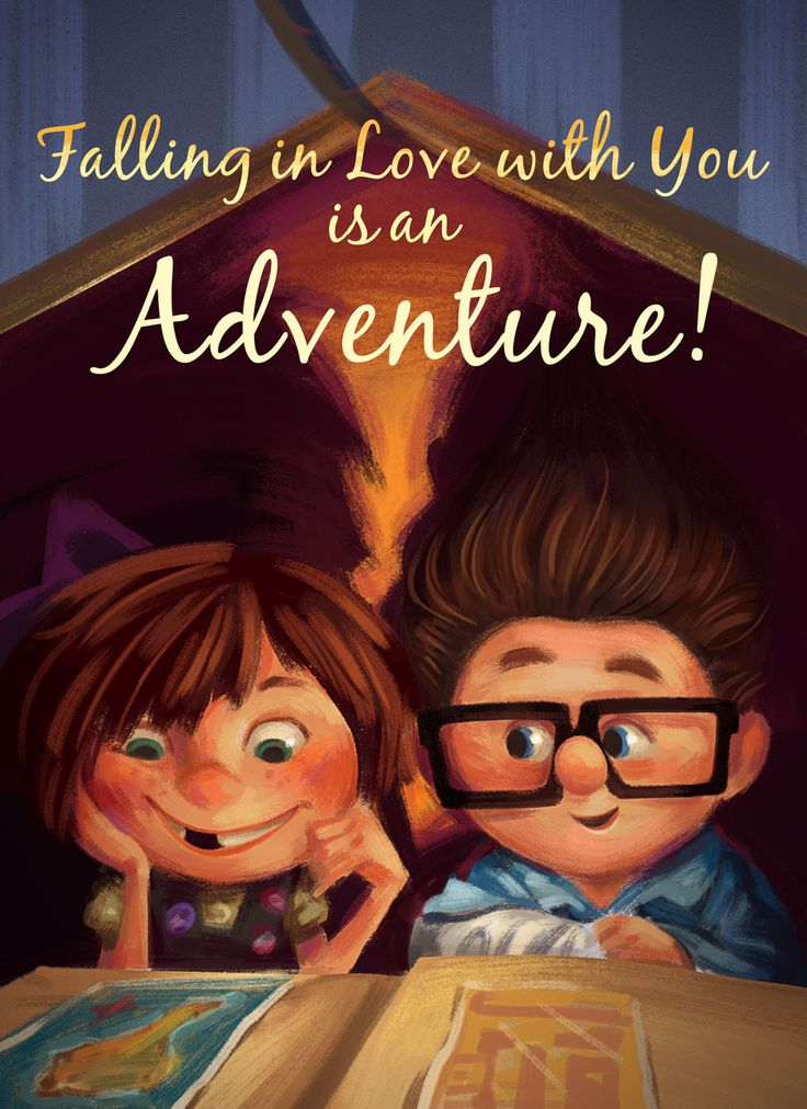 Adorable Disney Valentine's Day Cards | Oh My Disney | UP! | Falling in love with you is an adventure.