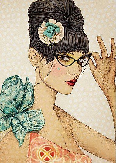 Ëlodie: Cat Eye, Art Inspiration, Illustration, Elodie Illustration, Hopscotch, Fashion Illustrations
