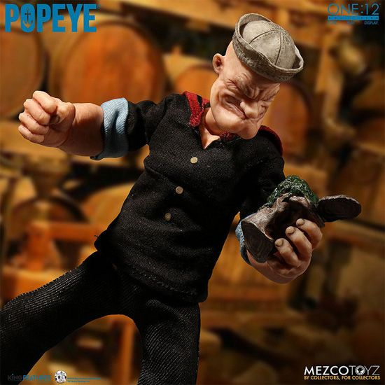 Mezco Toyz One 12 Collective Popeye Coming Cards Pinterest