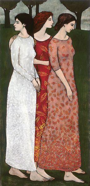 """Fall Coming in Like Three Sisters II""  by Brian Kershisnik"