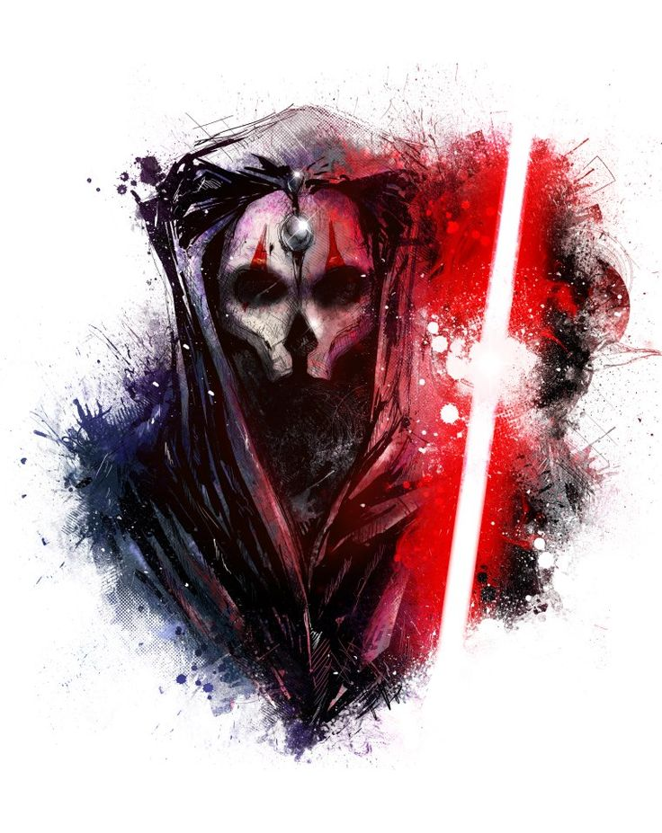 Darth Revan and Darth Nihilus, draw by Vincent Vernacatola. A wonderful early valentines day gift. - Imgur