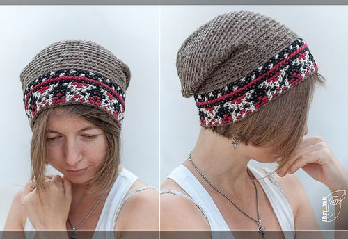 embroidered hat in Ukrainian style, knitted crochet  #crochet #hat #pattern#cross stitch#embroidered#