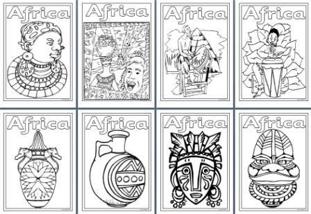Recursos Geografia - Ensinando sobre a África. Planilhas, páginas para colorir e cartazes para um Tópico de África