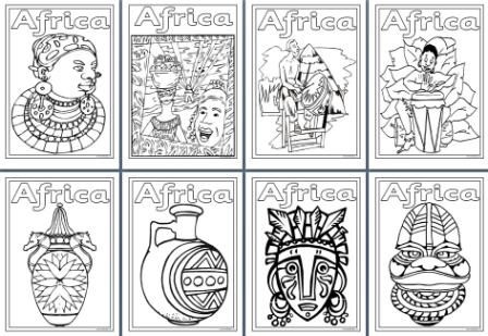 more coloring pages africa - photo#27