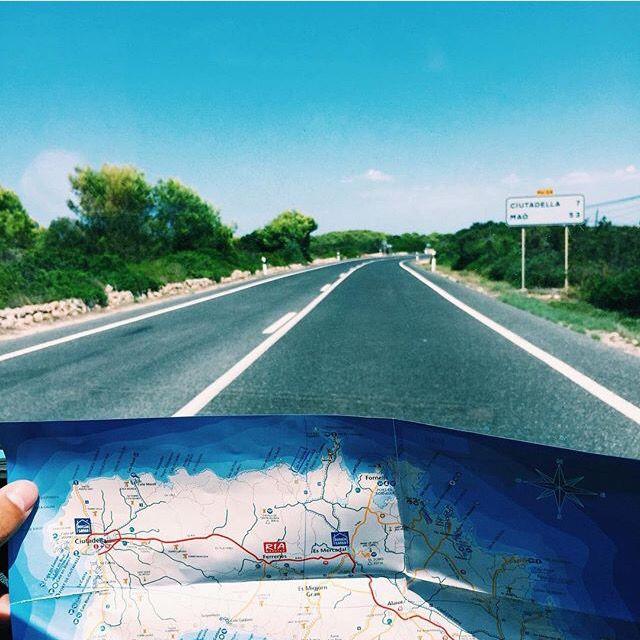 Menorca Map Road