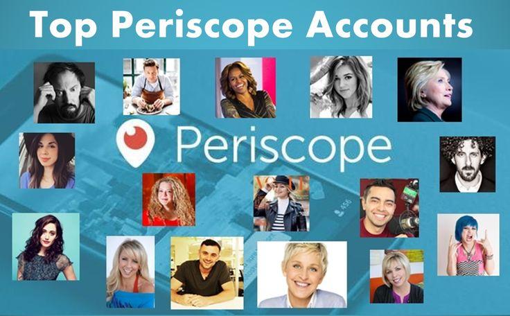 Celebrities on Periscope – Top People to Follow on Periscope