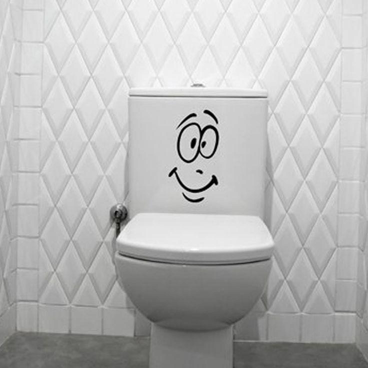 Веселые Улыбки Лицо Стены Стикеры Для Уборной Украшения Туалет Бак Наклейки На Стены Креативный Дизайн