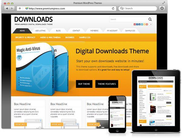 Powerful Responsive Digital Download Theme for WordPress