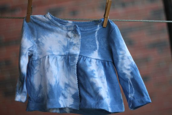 Shibori baby girl dress size 3-6 months, baby clothing, indigo dyed, baby outfit, baby girl, hip baby, shibori baby, blue baby dress,