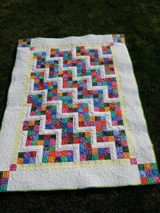 For my grandmother!  A Merry Mayhem mystery quilt.