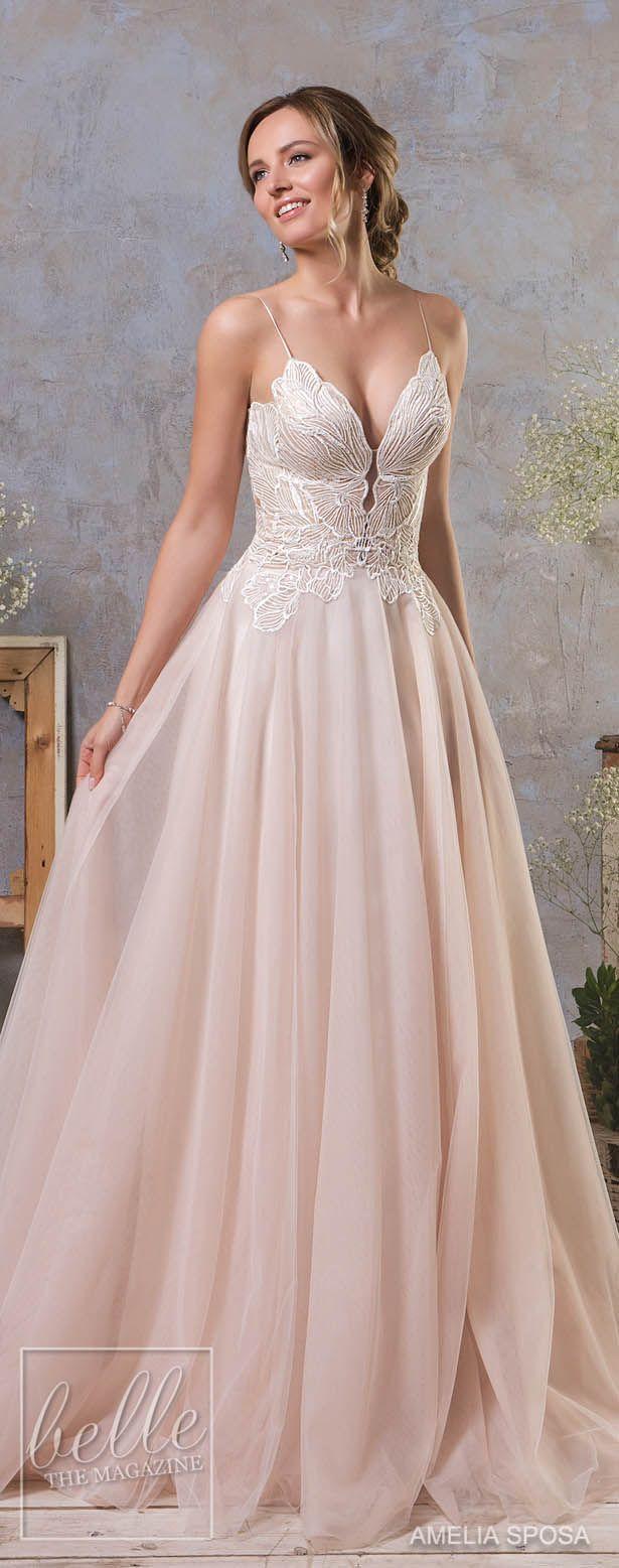 Best 25 blush wedding dresses ideas on pinterest pink wedding amelia sposa fall 2018 wedding dresses junglespirit Images